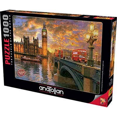 Anatolian Westminster Sunset Jigsaw Puzzle (1000 Piece): Toys & Games