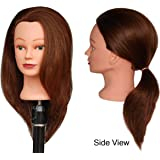 "HairZtar 100% Human Hair 18 - 20 "" Mannequin Head Hairdresser Training Head Manikin Cosmetology Doll Head (CORA)"