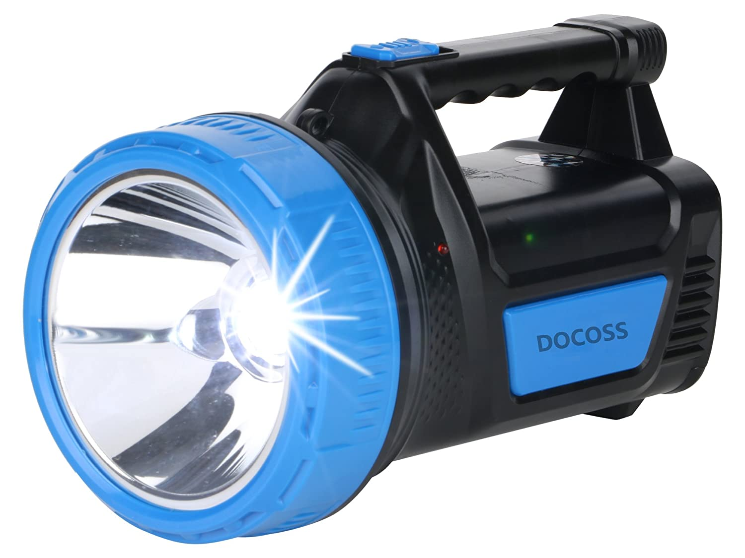 40569e498b7 Buy DOCOSS- ABS 25 W Ultra Bright Waterproof Rechargeable Led Torch Light  Laser Long Range High Power Torch + Emergency Lights Tube (Multi Color)  Online at ...