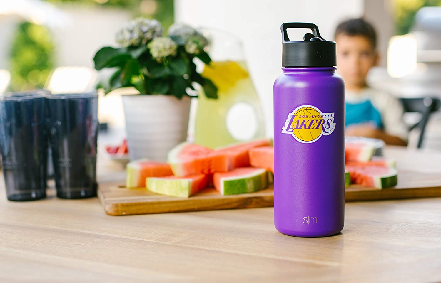 18//8 Vacuum Insulated Stainless Steel Mens Womens Gift Simple Modern University 32oz Summit Water Bottle with Straw Lid