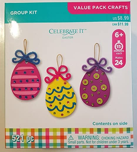 Makes 24 Foam Christmas Ornament Craft Kit