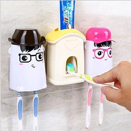 Jjpunk Badezimmer Kinder Cartoon Wand Automatische Zahnpasta Spender