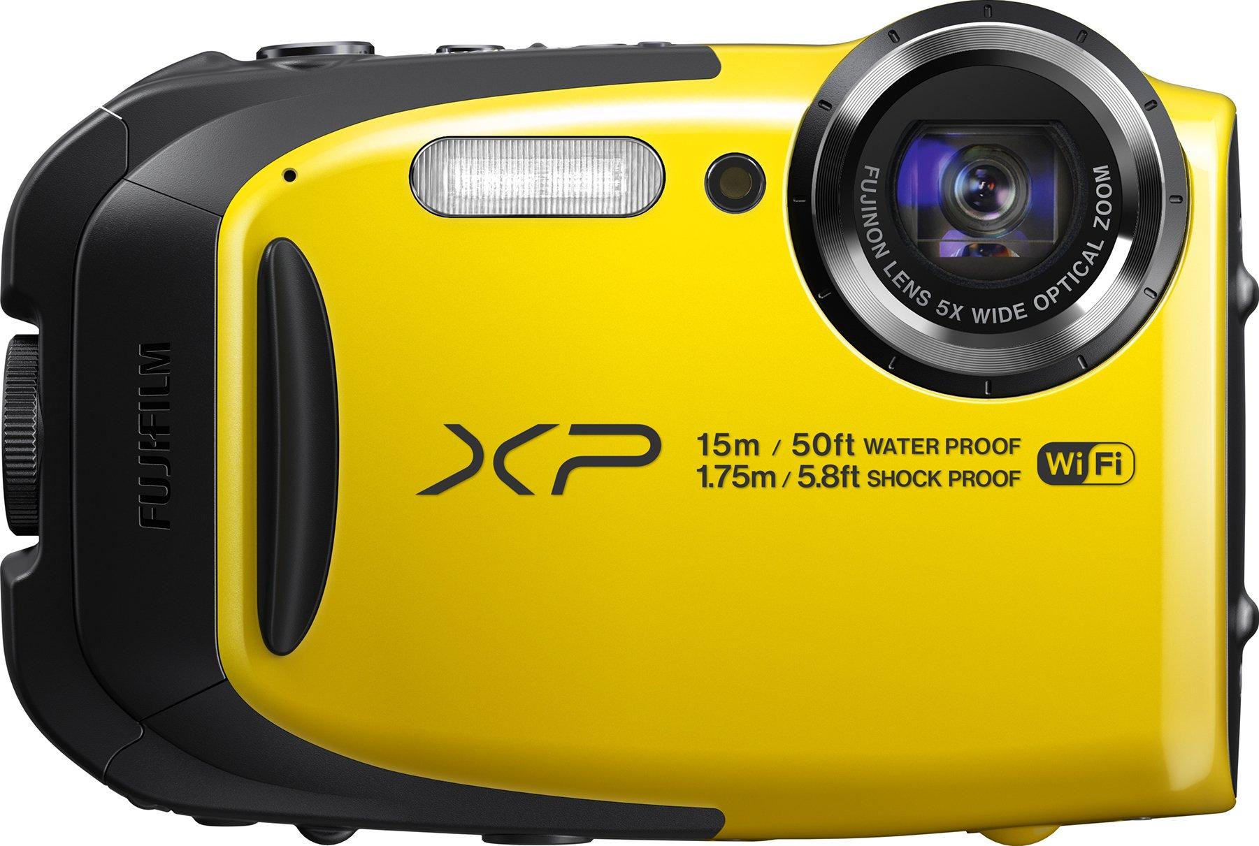 Fujifilm FinePix XP80 Waterproof Digital Camera with 2.7-Inch LCD (Yellow) by Fujifilm