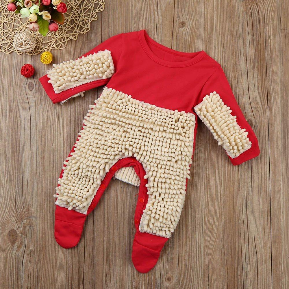 aobiny fregona mopa de ropa de bebé Pelele mono disfraz recién nacido niños bebé Niños Niñas Ropa manga larga Azul y rojo 4 tamaño, Rojo: Amazon.es: ...
