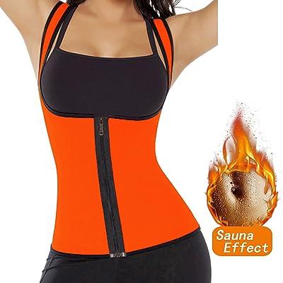 FUT Womens Slimming Sweat Vest Hot Neoprene Shirt Body Shaper Tank Top Tummy Fat Burner for Weight Loss