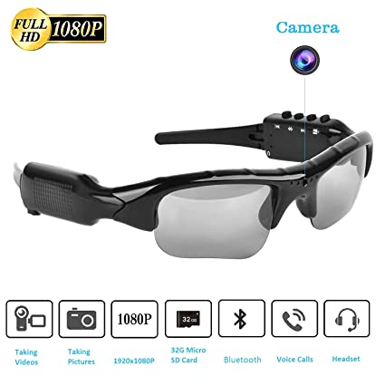 Amazon.com: Gafas de cámara, gafas de vídeo HD Max 32 GB ...