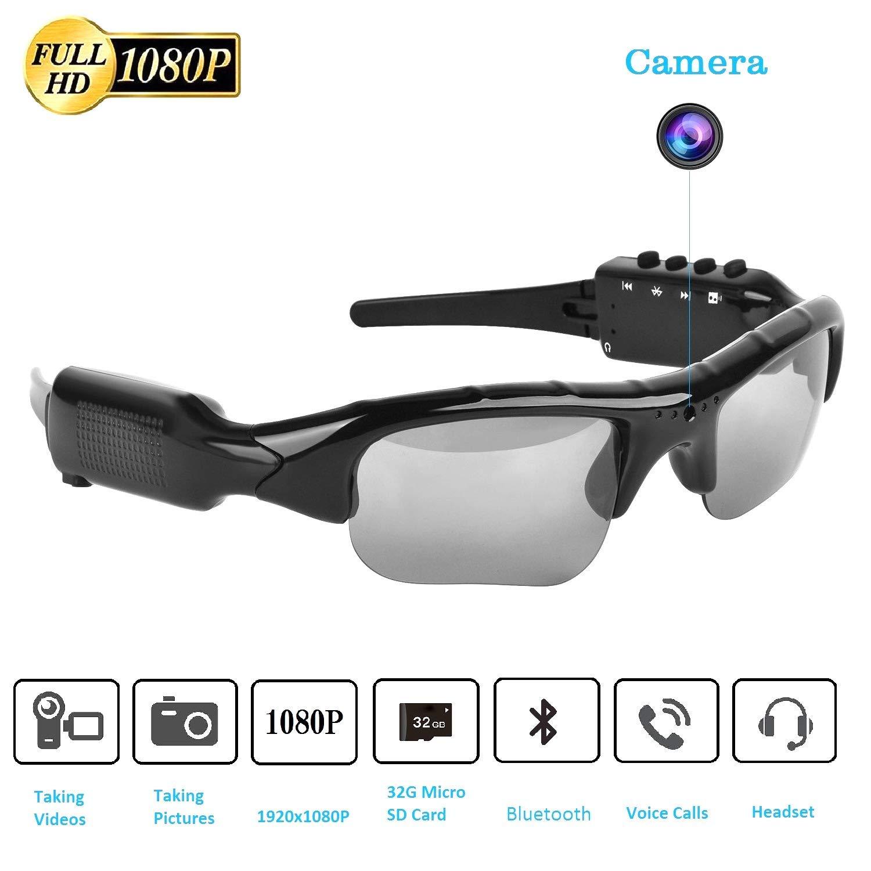 Bluetooth Sunglasses Camera,Full HD 1080P with 65 Degree Angle Mini Camera for Outdoor Sports.