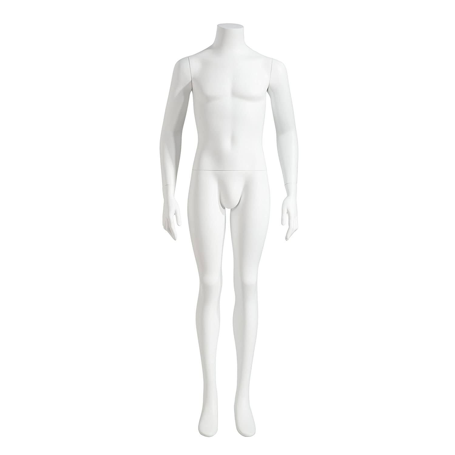 Male torso headless mannequin linen with adjustable stand EUC