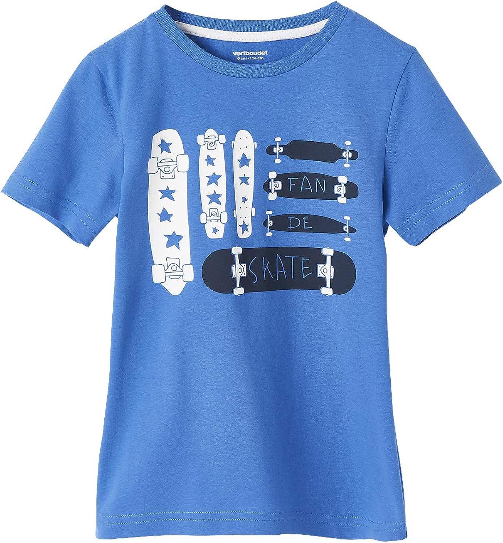 Vertbaudet T-Shirt gar/çon Motif Drapeau