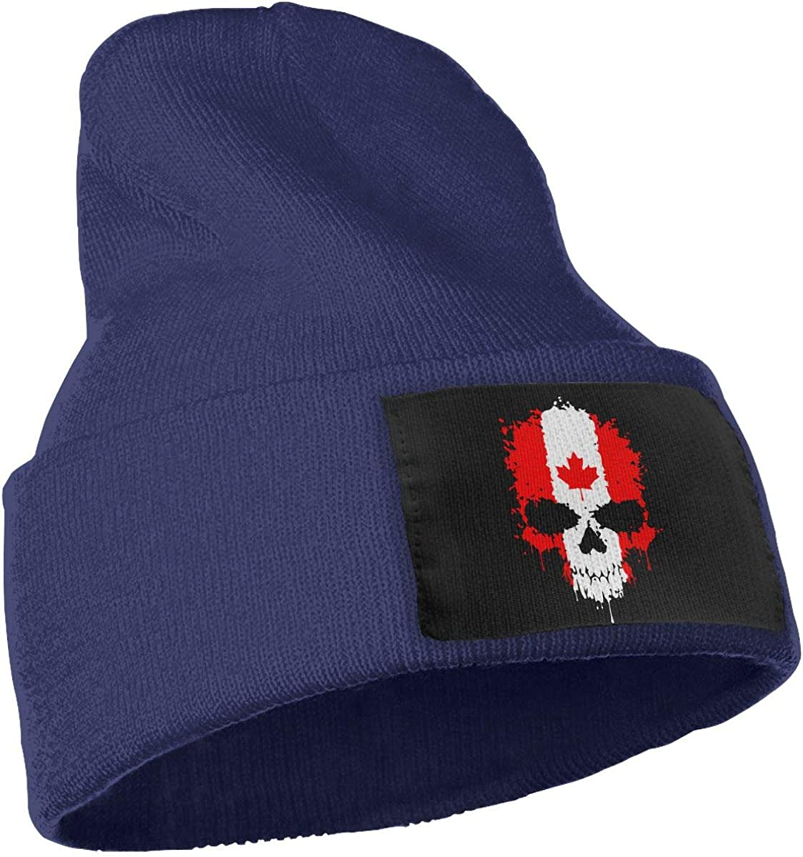 WHOO93@Y Mens Womens 100/% Acrylic Knitted Hat Cap Canadian Flag Skull Thick Skull Beanie