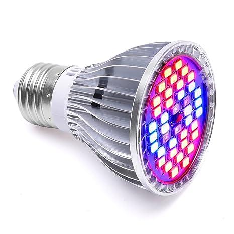 Plant Growth Bombillas, LONGKO 30W E27 Iluminación para plantas - Full Spectrum Grow LAMP 7