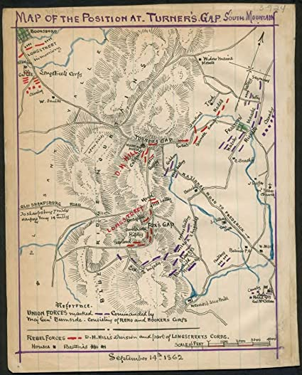 Amazoncom Vintage 1862 Map Of Plan Of The Battle Of Chantilly