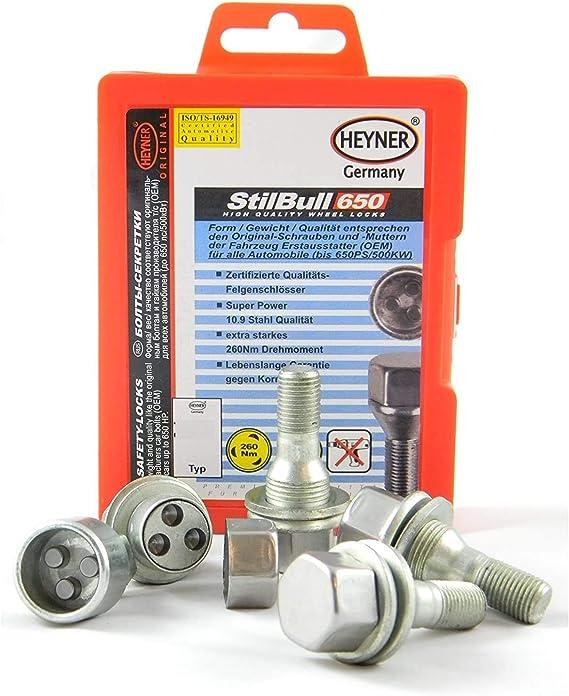 12x1.25 L28 Butzi Chrome Anti Theft Locking Wheel Bolt Nuts /& 2 Keys to fit Peugeot 508