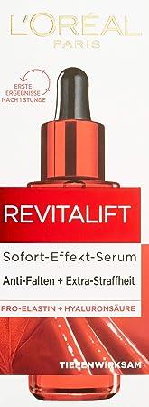 L'Oréal Paris Revitalift Suero hidratante alisador, con pro-elastina, ácido hialurónico y el activador antiarrugas adenosina, 30 ml