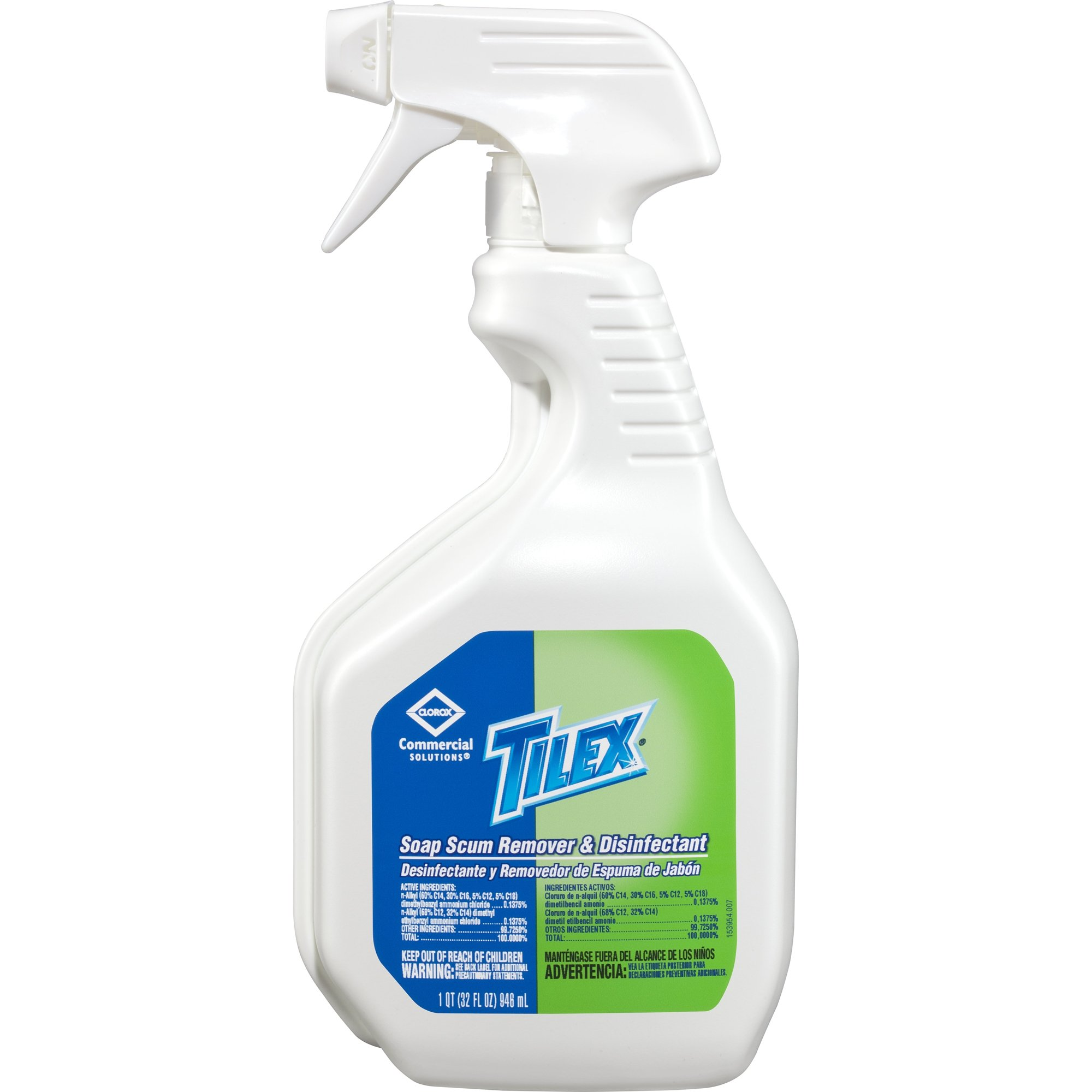 Tilex Soap Scum Remover & Disinfectant, Spray, 32 Ounces, 9 Bottles/Case (35604)