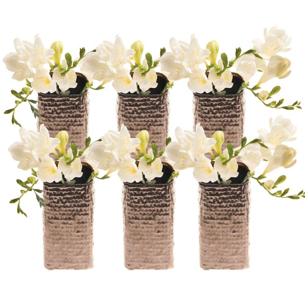 Chive weave small square ceramic bud flower vase - Decorative flower vase ...