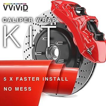 Vvivid Enamel Paint Wrap High Temperature Vinyl Film For Caliper Auto