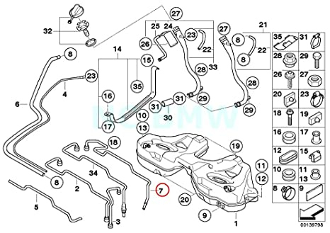 Amazon Com Bmw Genuine Supply Line For Independent Heating Automotive