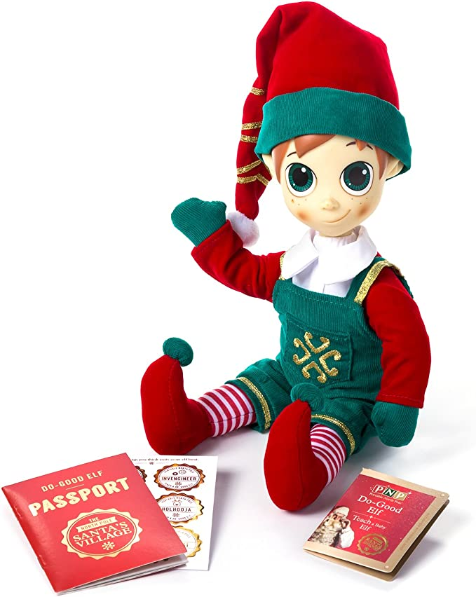 North Pole Portable 76675504 Elf Custom Male Plush Toy With Video Messages From Santa Claus Father Christmas Toys Games Amazon Com