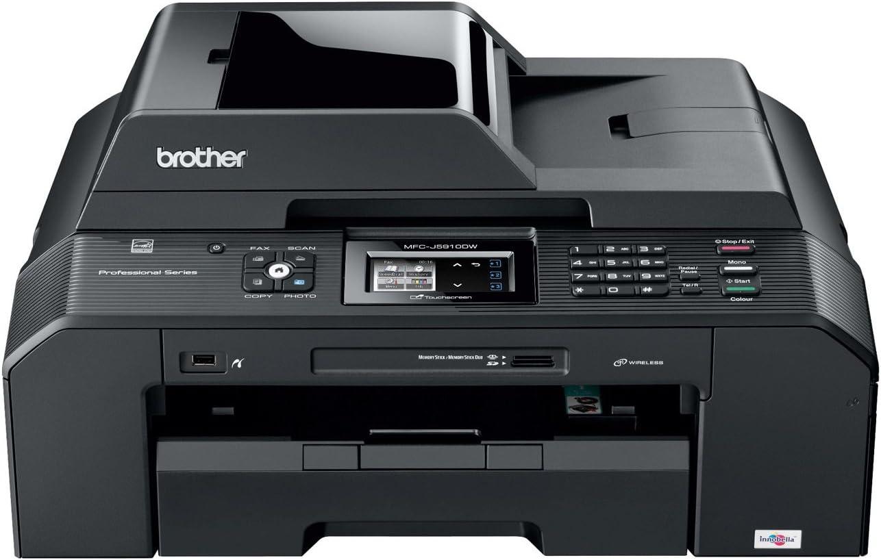 Brother MFCJ5910DW - Impresora multifunción de Tinta Color (A3, 35 ...