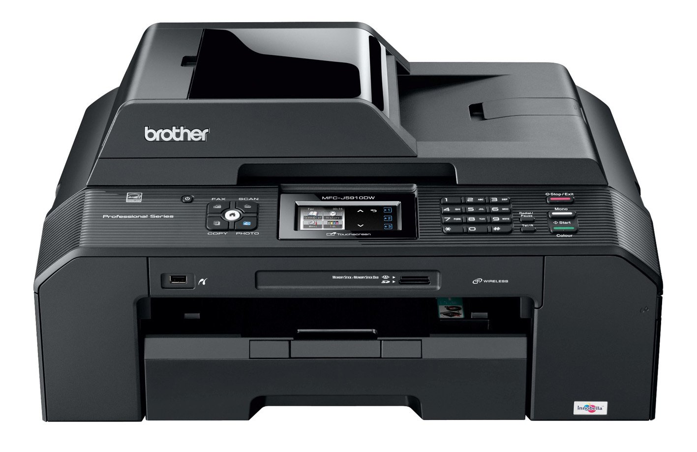 Brother MFCJ5910DW - Impresora multifunción de Tinta Color (A3, 35 ...