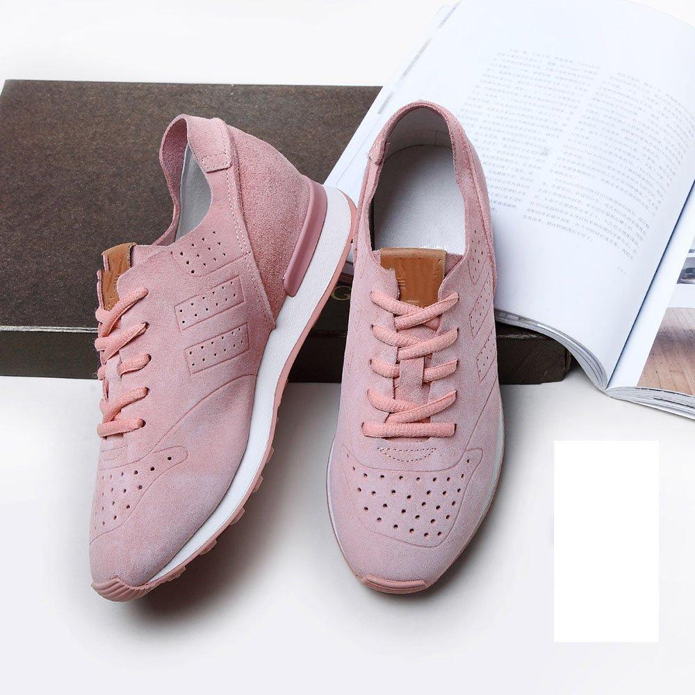 Nan Zapatos de Mujer de Verano Aumento Interno Forrest Gump Zapatos Macaron Zapatos Tres Colores para Elegir: Amazon.es: Zapatos y complementos