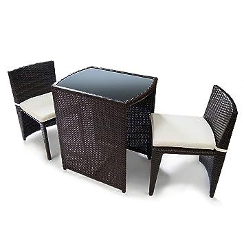 Jarder Rattan Bistro Set Luxury Outdoor Garden Furniture Glass