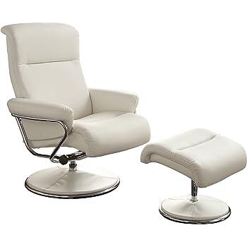 Amazon Com Homelegance 8550wht 1 Swivel Reclining Chair
