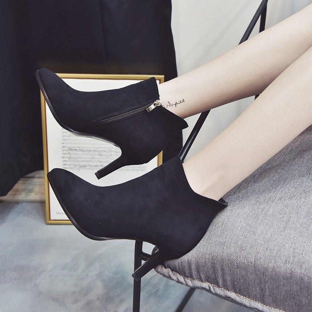Stiefel Damen High-Heels Damenschuhe Hosen Stiefel Hosen Einzel Stiefel Bare Schuhes Friction Fashion Martin Stiefel , schwarz , EUR37
