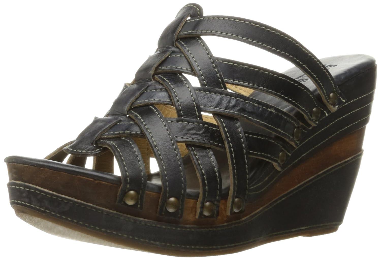 Bed Stu Women's Josie Wedge Sandal B0128IY7BE 11 B(M) US Black Driftwood