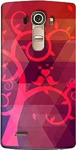 جراب جراب لهاتف LG G4 من ColorKing - مطبوع عليه طير شجرة متعدد الألوان