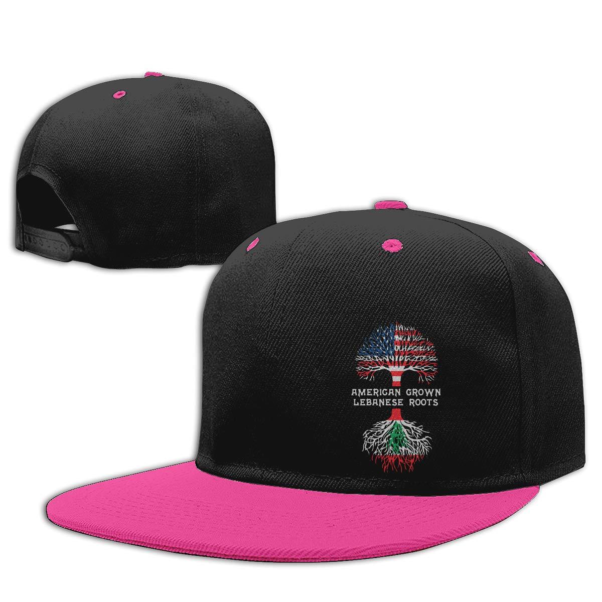 American Grown with Lebanese Roots Unisex Flat Brim Baseball Caps NMG-01 Women Men Trucker Cap