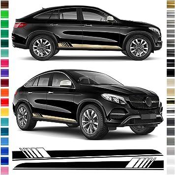 Auto Dress Seiten Streifen Aufkleber Set Dekor Passend Für Mercedes Gle In Wunschfarbe Shortbread Auto