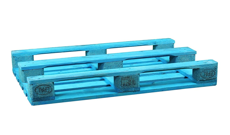 Palet Europalet homologado 120x80x14 cm diferentes colores (Azul): Amazon.es: Hogar