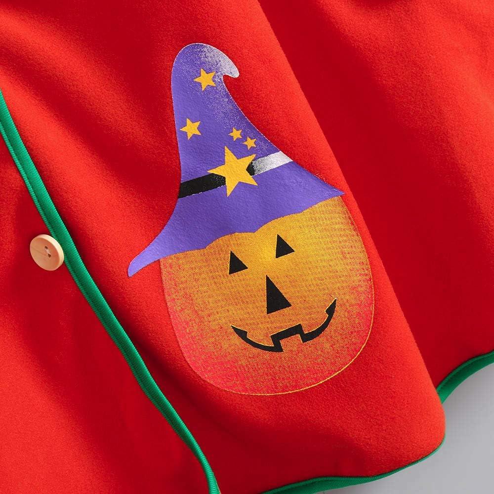 Halloween Kids Cloak,Fineser Fashion Kids Children Girls Halloween Pumpkin Print Pockets Hooded Cosplay Costume Cloak Coat