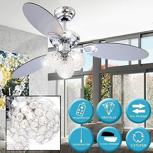 Ventilador de techo LED con luz para interruptor de tirador e ...