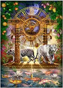 Cross Stitch Kits, The Magical Moment of time and Space Holographic Ornaments,Stamped Needlepoint Printed Pattern Kits for Home Decor Cross-Stitching Sewing Embroidery 11CT