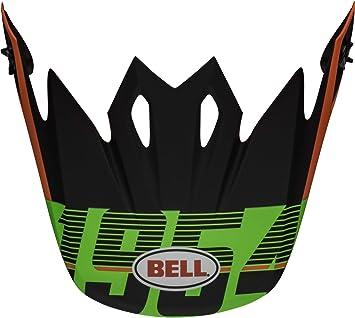 Showtime Matte Black//Green Bell MX-9 Visor