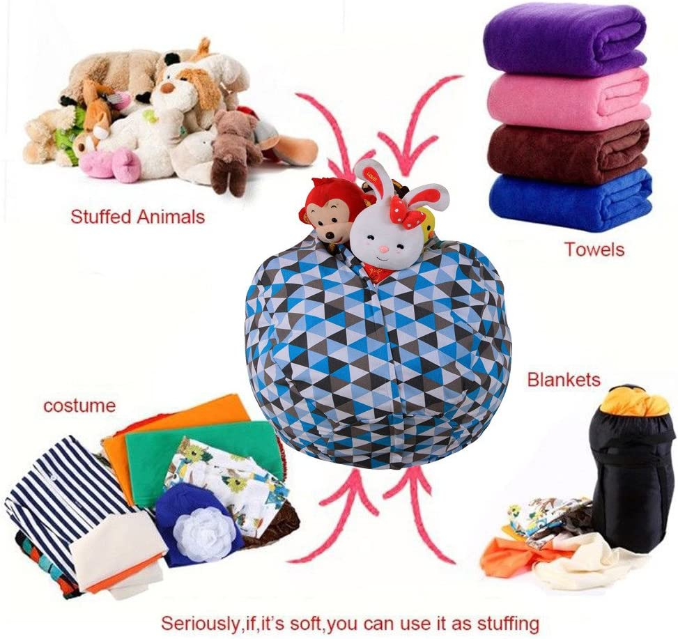 55.1 Extra Large Toy Organizer Bestshope Toy Storage Bean Bag Stuffed Animal Organizer Soft /& Comfy Cover that Creates Cozy Lounger Cover