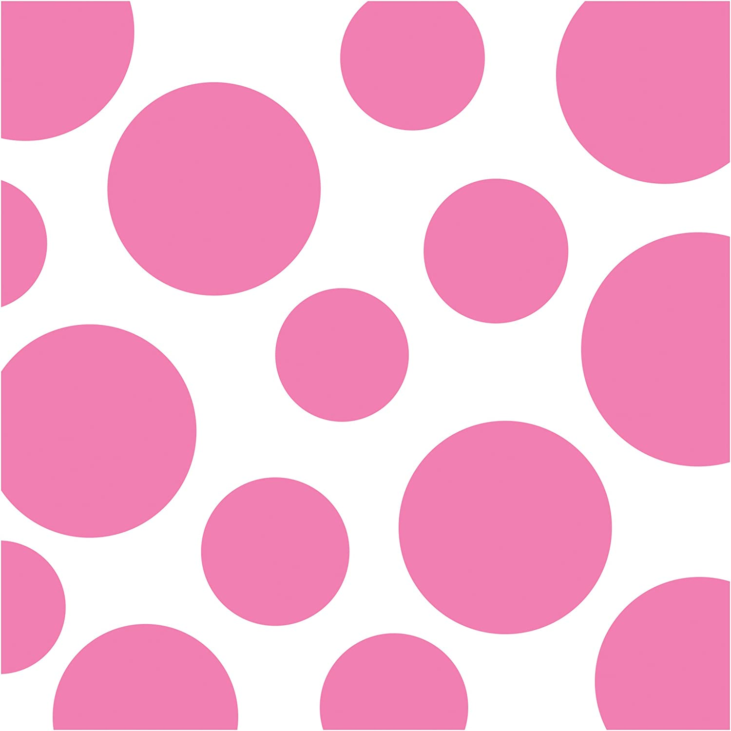 Creative Converting Celebrations 16 Count Chevron and Polka Dots Beverage Napkins, Candy Pink