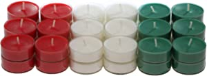 CandleNScent Scented Holiday Candles Tea Lights Variation – Holiday Set - Pack of 36