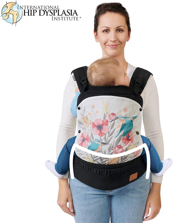 Regolabile Ventrale e Dorsale Cotone 20 Kg Ergonomico 3 Mesi Kinderkraft Marsupio Neonati HUGGY per Bambini