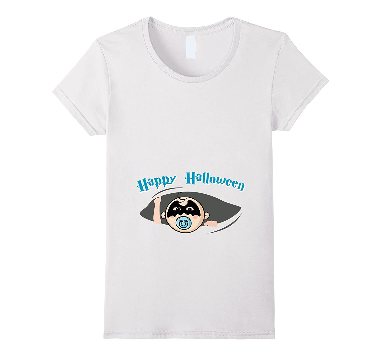 243082d4540be Womens Maternity Peeking Bat Boy Halloween T-shirt Funny-ANZ ...