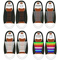 HYFAM No Tie Shoelaces for Kids/Adults, Waterproof Elastic Silicone Tieless Shoe Laces for Sneakers Board Shoes Casual…