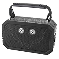 DOSS Traveler Waterproof Bluetooth Speaker, Portable Rugged Wireless Bluetooth Outdoor Stereo Speakers with 20W HD Sound, Bold Bass, 3W LED, 12H Playtime for iPhone iPad Samsung Android Phone -Black