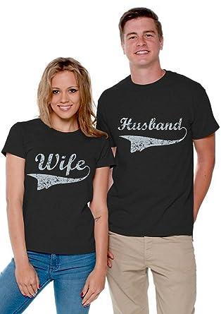 1806a6e240 Awkward Styles Couple Matching Wife Husband Shirts Couple Shirts Men Large/Ladies  Small Black