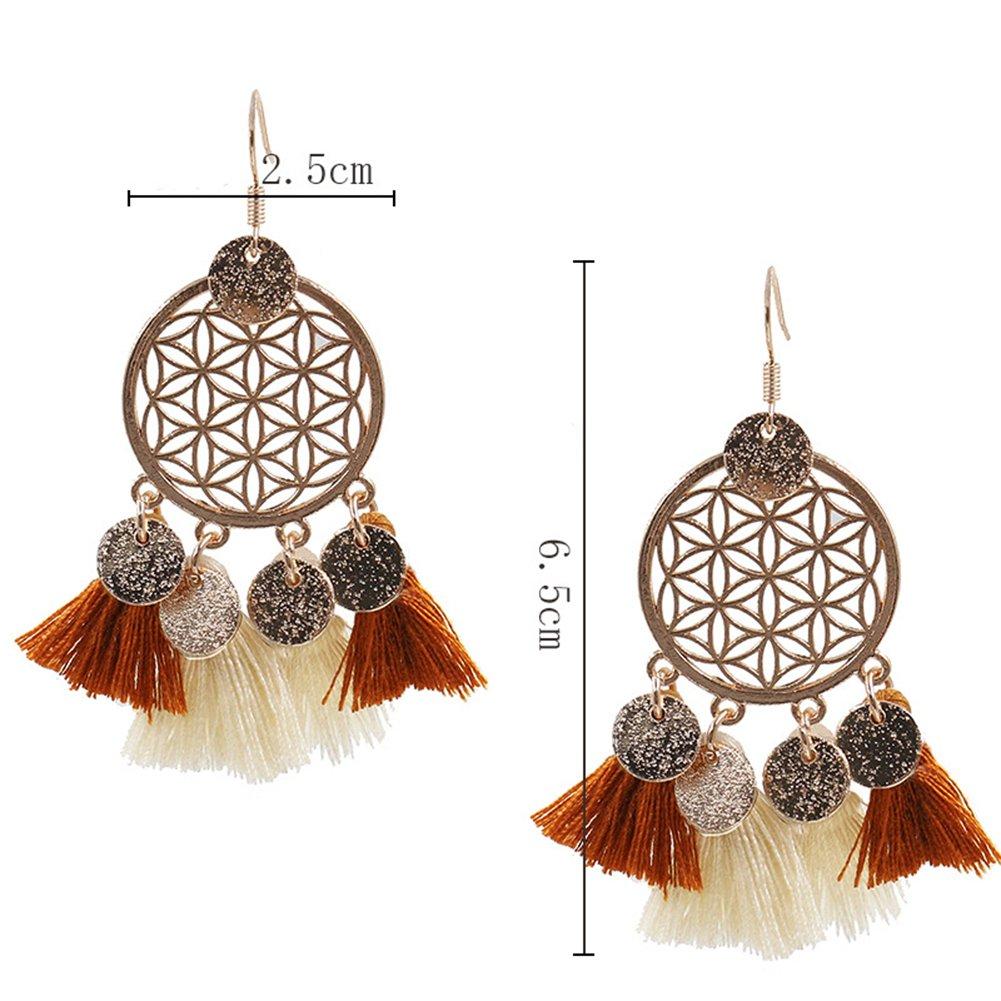 Scrox 1/paio di orecchini moda orecchini argento lucido exquisite pendente orecchini donne orecchini Girls Beautiful Charming accessori Gift colorato nappa