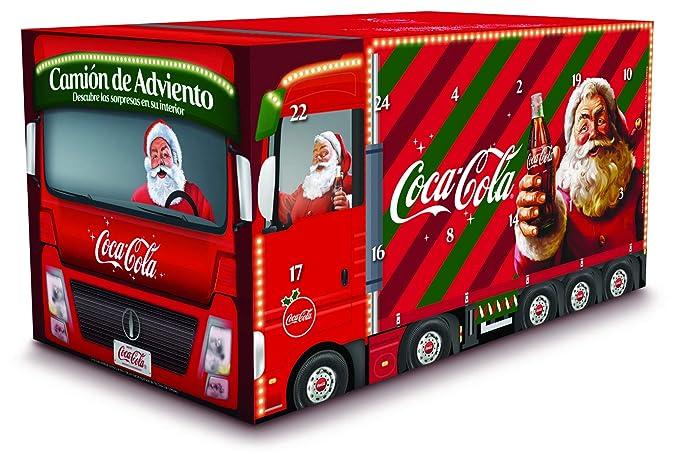 Coca Cola Camión de adviento - Pack de 15 Coca Cola Zero Zero Minican y 9