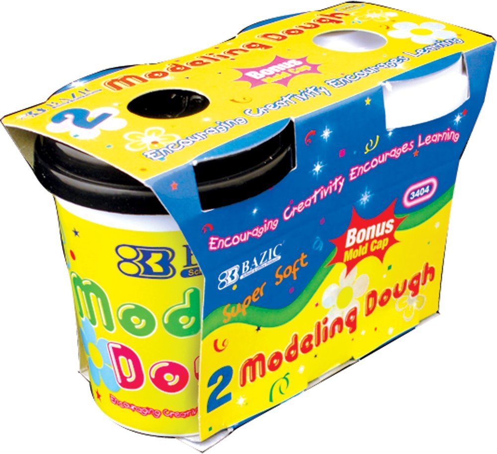 BAZIC Multi Color Modeling Dough, 5 ounces, Assorted, 2 Per Pack