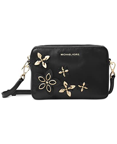6e02a159d909 MICHAEL Michael Kors Flowers Pouches Medium Camera Bag Cross Body, Black:  Handbags: Amazon.com